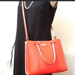 EUC Kate Spade Coral Leather Crossbody Bag